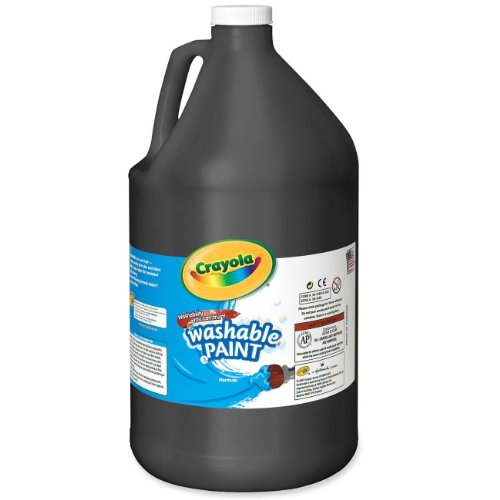 Crayola 54-2128-051 Washable Paint, Gallon Size, Black (Neon Tempera Paint compare prices)