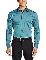 Raymond Men's Casual Shirt (8907254867484_RQSX00028-P5_42_Medium Petrol)