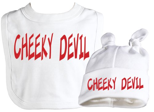 Spoilt Rotten - Devil Bib & Cheeky Devil Knot Hat Baby Set
