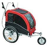 Aosom Elite II Pet Dog Bike Bicycle Trailer Stroller Jogger w/ Suspension - Red Black
