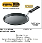 Hawkins Flat Tava L56 With Plastic Handle - 26cm