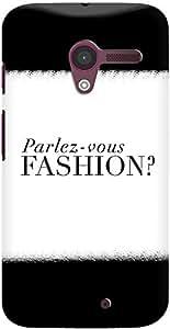DailyObjects Parlez Vous Fashion White Case For Motorola Moto X