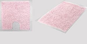 Add a splash of feminine charm to your bathroom with pink bath rugs and mats. They instantly enliven your space and provide a fun dash of color. Wayfair has a large assortment of pink bath rugs and mats in nearly any shade of pink you can imagine.