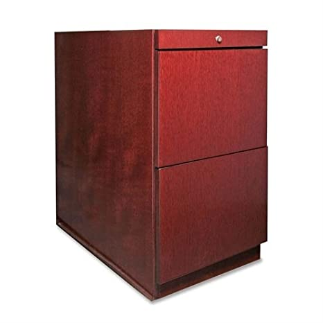 Lorell Pedestal Desk, File/File, 15-3/4 by 22 by 27-1/2-Inch, Mahogany