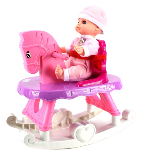 Baby Girl Rocking Horse back-626216