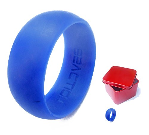 Men's Silicone Wedding Ring Band With Gift Box. Black, Blue... Perfect Husband Gifts From Wife