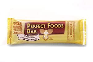Perfect Foods Bar - Peanut Butter. THE ORIGINAL, Gluten Free High Protein Bar (Wholesome Superfood Energy), Buy EIGHT and Save Per Bar, Each Bar is 2.5 oz (Pack of 8)