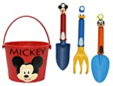 Midwest Gloves & Gear Mickey Mouse Bucket and Garden Tool Set Combo Pack