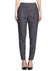 M&S Collection Houndstooth Pleat Front Trousers