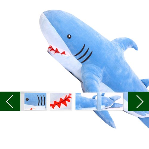 Other Toys Gogo 70 Unique Huge Shark Stuffed Plush Toy