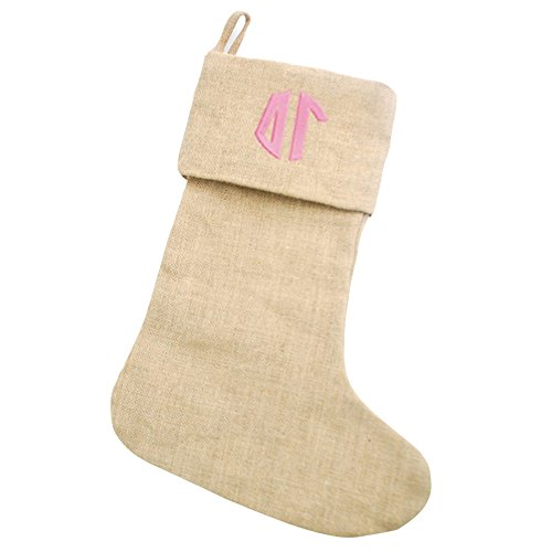 delta-gamma-circle-monogram-burlap-christmas-stocking-tan-w-pink