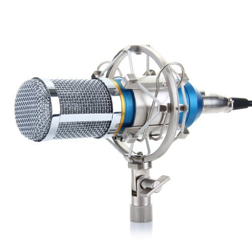 Floureon BM-800 Condenser Sound Studio Recording Broadcasting Microphone + Shock Mount Holder Blue thumbnail