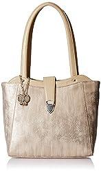 Butterflies Women's Handbag (Cream) (BNS 0585CRM)
