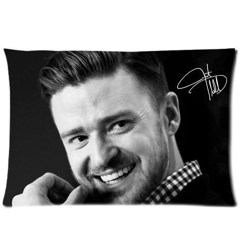 """American Hot Singer Justin Timberlake Superstar Cotton Decorative Throw Zippered Pillow Case Cover Marvelous Pattern 20""""X30"""" front-119868"""