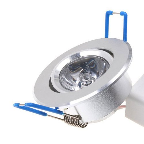 Generic 85~265V 3W 1-Led Rgb Ceiling Light Downlight Recessed Downlamp Bulb Led Spotlight W/ Remote Control Ceiling Lamp