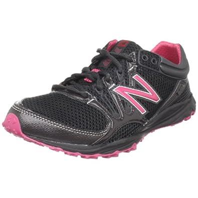 New Balance Women's WT101 Trail Running Shoe,Black/Pink,6 B US