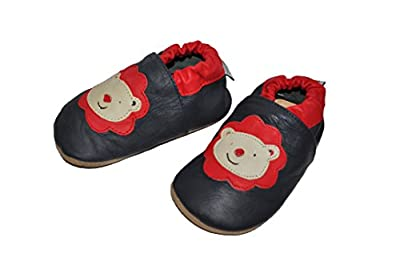 Tipsie Toes Baby's First Walker Soft Sole Genuine Leather Shoes Baby Boy - Lion
