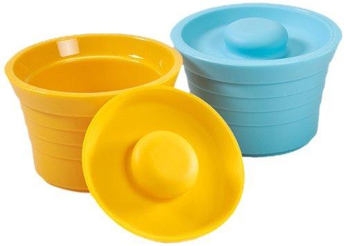 Kinderville Little Bites Storage, Jars Blue/Orange