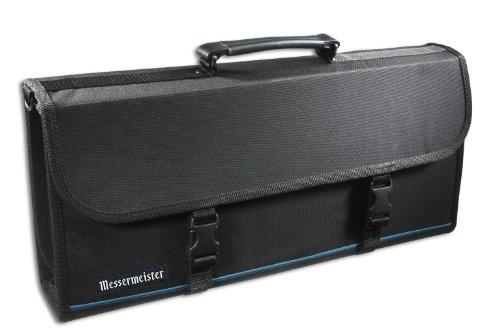Messermeister 17 Pocket Knife Case With Large Storage Pocket, Black