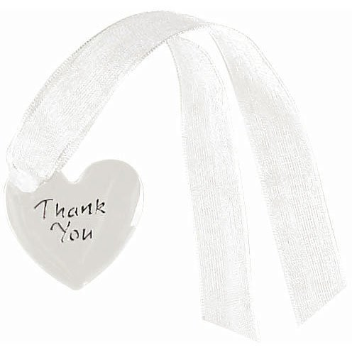 "Amscan Fashionable Thank You Tags Wedding Party Supplies, 1-1/4"" x 1-1/4"", White/Silver"