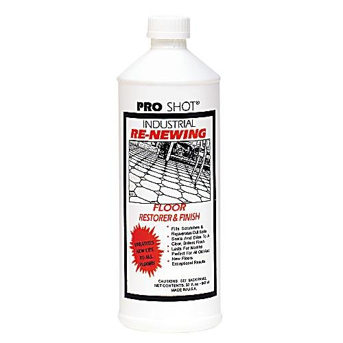 Pro Shot Industrial Re-Newing Floor Restorer And Finish (32 oz.) Petrochemical-Free Formula