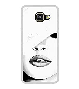 Girl with a Hat 2D Hard Polycarbonate Designer Back Case Cover for Samsung Galaxy A3 (2016) :: Samsung Galaxy A3 2016 Duos :: Samsung Galaxy A3 2016 A310F A310M A310Y :: Samsung Galaxy A3 A310 2016 Edition