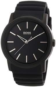 Hugo Boss - 1512742 - Montre Homme - Quartz Analogique - Cadran - Bracelet Silicone Noir