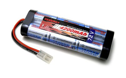 Tenergy Propel 7.2V 4200mAh (40A Drain Rate) NiMH Battery Pack with Tamiya Connector