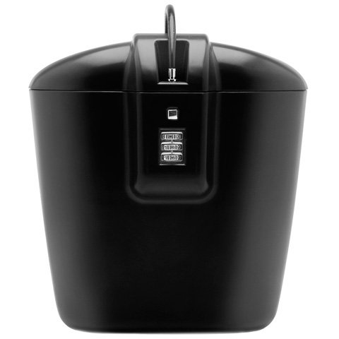 Vacation Vault Black Portable Protective Combination Lock Box