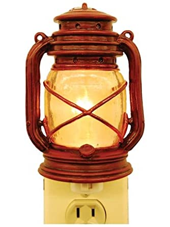 Electric Night Light Oil Lantern Lamp Outlet Plug In 5