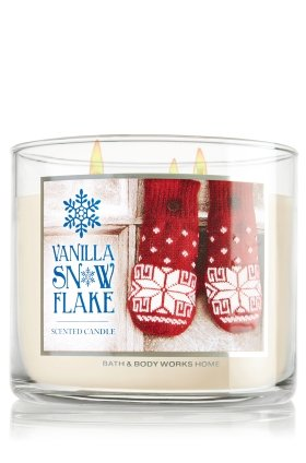 bath body works 2014 vanilla snowflake 3 wick scented candle 14 5 oz 411 g. Black Bedroom Furniture Sets. Home Design Ideas