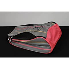 Sassy Caddy Ladies Ritzy Golf Shoe Bag, Grey Hot Pink Black by Sassy