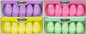 Easter Marshmallow Chicks Peeps Variety Pack 4ct.