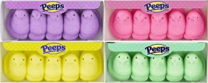 Easter Marshmallow Chicks Easter Candy Peeps