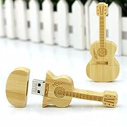 Quace 16 GB Wooden Guitar Fancy USB Pen Drive