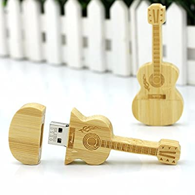 Quace 4 GB Wooden Guitar Fancy USB Pen Drive