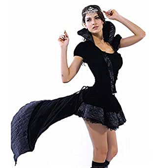Rekais Women's Sexy Wicked Queen Costume, Halloween Costume,party Costume M-xl Size