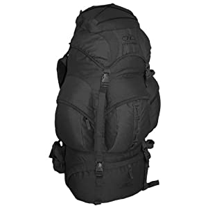 Waterproof Army Patrol Pack Rucksack Forces 66L Black by Pro-Force