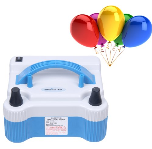 Signstek Electric Portable Household Air Blower Balloon Air Pump Inflator with 18000pa Dual Nozzle 1000L/min Air Volume