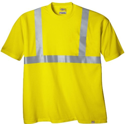 Dickies High-Visibility Class 2 Short Sleeve T-Shirt - ANSI Yellow, 2XL, Model# VS200AY
