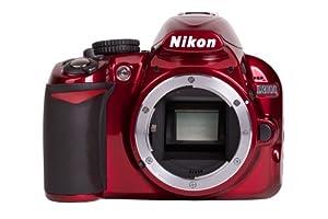 Nikon D3100 SLR-Digitalkamera (14,2 Megapixel, 7,6 cm (3 Zoll) Display, Full HD, HDMI, Expeed 2) nur Gehäuse rot
