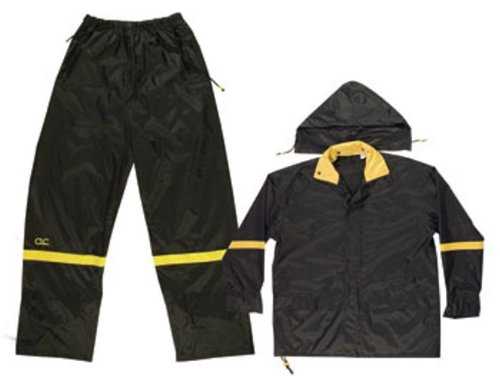 Custom Leathercraft R1033X 2-Piece Nylon Rain Suit with Detachable Hood, Black, 3XL (Working Rain Gear compare prices)