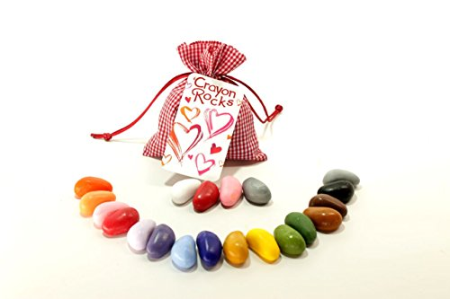 Crayon Rocks Valentine Gift in Red Bag - 1