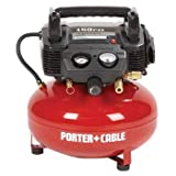 Factory-Reconditioned Porter Cable C2006R 0.8-HP 6-Gallon Oil-Free Pancake Compressor
