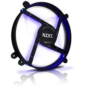 NZXT PHANTOMサイドパネル専用の静音200mmファン ブルーLED搭載 FS200LED-BU