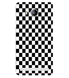 ifasho Squre and Checks In black and white Pattern Back Case Cover for VIVO Xshot