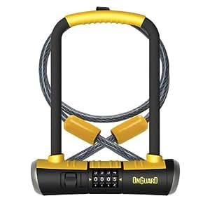 onguard bulldog combination u lock cable combo cable bike lock. Black Bedroom Furniture Sets. Home Design Ideas