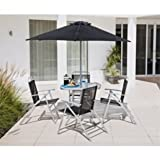 Atlantic 4 Seater Patio Furniture Set - Silver