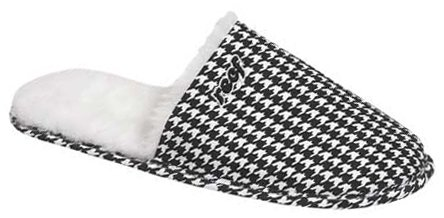 Cheap Reef Eski Slipper – Black / White Houndstooth (B001A42K7Q)