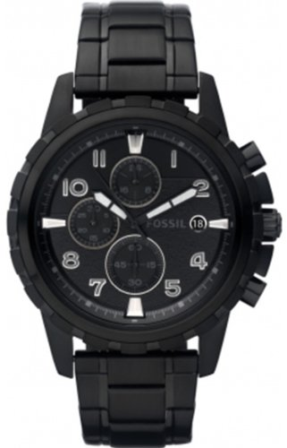 Fossil Men's FS4646 Dean Black Stainless Steel Watch